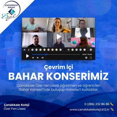 BAHAR KONSERİNDE HIDIRELLEZİ KUTLADIK